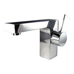 Fresca - Fresca Isarus Single Hole Mount Bathroom Vanity Faucet - Chrome - This single hole faucet is made from heavy duty brass with a chrome finish.  Features ceramic mixing valve for longevity and watertight functionality.