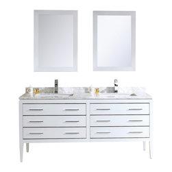 """Adornus - Adornus CAMILE-60-W-C White Vanity - * Matte White Main Cabinet 60"""""""