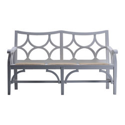 Tamara Bench - Love the lattice! This charming bench is a great addition to any entryway, covered porch, bedroom or dining room.