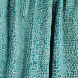 Swavelle - Gabbana Aegean Upholstery Fabric - Gabbana Aegean upholstery fabric from Swavelle Mill Creek.  A soft animal skin chenille in teal blue and gold.  Uses for Gabbana include upholstery, pillows and cornice boards.  Fabric is sold by the continous yard.