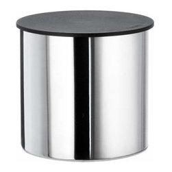 Smedbo - Smedbo Container W/Black Lid Freestanding Dia 3 1/2 Inch Height 4 Inch - Smedbo Container W/Black Lid Freestanding Dia 3 1/2 Inch Height 4 Inch