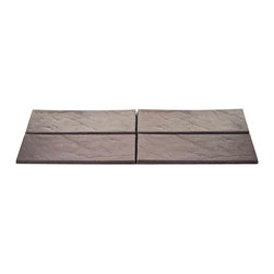 Trademark Home Collection - Brown Realistic Rock Style Garden Path - Durable Plastic Construction. Four Decorative Tiles. Sure Hold Cleats. Authentic Rock Style. Per Tile: 24.5 in. L x 8.25 in. W x 1.75 in. H (5 lbs.)Bring the authentic look of a rock path to your garden or lawn with Brown Plastic Rock Style Garden Path by Trademark Home Collection. Each tile features cleats to stay where you place them, but unlike real rock these garden tiles are easy to move. Arrange the four tiles into any pattern you desire with ease. Bring a touch of elegance to your law or garden with the Brown Plastic Rock Style Garden Path by Trademark Home Collection.