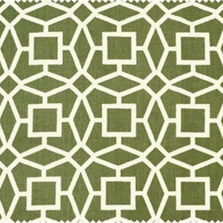Arabesque by Peter Dunham Textiles - I love the way the geometry of this Peter Dunham print palys with my eyes. It's perfect for a Hollywood Regency room, a Dorothy Draper-esque Palm Beach room, an exotic room, or as and accent in a contemporary room.