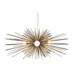 Gold Urchin Chandelier by Stimulight - This gold urchin lighting is absolutely stunning!