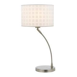 Cal Lighting - Cal Lighting BO-2324TB Posita 1 Light Pedestal Base Table Lamp - Features: