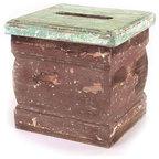 Semiprecious Stone Oblong Tissue Box Malachite Modern