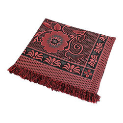 "Blancho Bedding - Deer in Mythology - Dark Red Jacquard Weave Blanket / Area Rug  59.1""-86.7"" - The Jacquard Weave Blanket / Tapestry / Area Rug measures 59.1 by 86.7 inches. Whether you are adding the final touch to your bedroom or rec-room, these patterns will add a little whimsy to your decor. Machine wash and tumble dry for easy care. Will look and feel as good as new after multiple washings! This blanket adds a decorative touch to your decor at an exceptional value. Comfort, warmth and stylish designs. This throw blanket will make a fun additional to any room and are beautiful draped over a sofa, chair, bottom of your bed and handy to grab and snuggle up in when there is a chill in the air. They are the perfect gift for any occasion!"