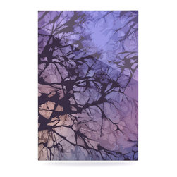 """Kess InHouse - Alison Coxon """"Violet Skies"""" Metal Luxe Panel (24"""" x 36"""") - Our luxe KESS InHouse art panels are the perfect addition to your super fab living room, dining room, bedroom or bathroom. Heck, we have customers that have them in their sunrooms. These items are the art equivalent to flat screens. They offer a bright splash of color in a sleek and elegant way. They are available in square and rectangle sizes. Comes with a shadow mount for an even sleeker finish. By infusing the dyes of the artwork directly onto specially coated metal panels, the artwork is extremely durable and will showcase the exceptional detail. Use them together to make large art installations or showcase them individually. Our KESS InHouse Art Panels will jump off your walls. We can't wait to see what our interior design savvy clients will come up with next."""