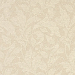 Ivory Leaves Outdoor Indoor Marine Upholstery Fabric By The Yard - This material is an upholstery grade outdoor and indoor fabric. It is stain, water, mildew, bacteria and fading resistant. It is also Scotchgarded for further stain resistance and durability. This material is woven for superior appearance.