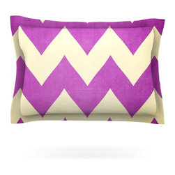 "Kess InHouse - Catherine McDonald ""Juicy"" Chevron Pillow Sham (Woven, 30"" x 20"") - Pairing your already chic duvet cover with playful pillow shams is the perfect way to tie your bedroom together. There are endless possibilities to feed your artistic palette with these imaginative pillow shams. It will looks so elegant you won't want ruin the masterpiece you have created when you go to bed. Not only are these pillow shams nice to look at they are also made from a high quality cotton blend. They are so soft that they will elevate your sleep up to level that is beyond Cloud 9. We always print our goods with the highest quality printing process in order to maintain the integrity of the art that you are adeptly displaying. This means that you won't have to worry about your art fading or your sham loosing it's freshness."
