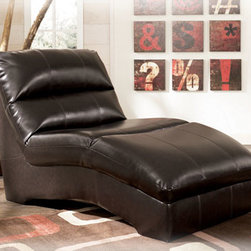 Stylish Seating - DuraBlend - Chocolate Chaise
