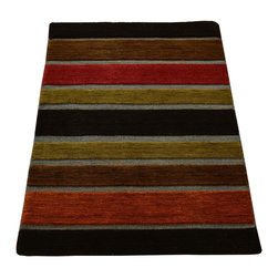1800-Get-A-Rug - Modern Mat Hand Knotted Rug Embossed Raised Sh12275 - About Modern & Contemporary