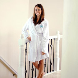 Home Decorators Collection - Monogram Plush Hooded Spa Robe - Our Monogram Plush Hooded Spa Robe will help you recreate the feel of the spa in the comfort of your own home. Made of fleece and personalized at no charge, this robe also boasts two pockets, a hood and an adjustable tie sash. Adjustable size. One size fits most. Personalize with a three-letter block monogram.
