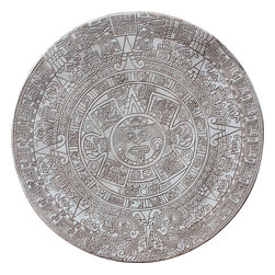 Concrete Tables - Aztec Calender Concrete table top for patio or garden decor. Legs are not shown but we can create multiple sizes.