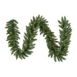 12 in. x 9 ft. Camdon Fir Pre-lit Garland - About VickermanThis product is proudly made by Vickerman a leader in high quality holiday decor. Founded in 1940 the Vickerman Company has established itself as an innovative company dedicated to exceeding the expectations of their customers. With a wide variety of remarkably realistic looking foliage greenery and beautiful trees Vickerman is a name you can trust for helping you create beloved holiday memories year after year.