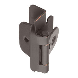 """Double Demountable Cabinet Hinge - 1/2"""" Overlay - Set of 2 - This hinge easily mounts to cabinet doors with its pre-routed slots. Use to correct a warped door or twisted cabinet problem."""