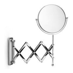 WS Bath Collections - Mevedo Polished Chrome 3X Magnifying Mirror - Whether you're trimming your beard or putting on lipstick, you need to see what you're doing. This polished chrome magnifying mirror will give you a good look. Ready to wall mount, it has a scissor-style extending arm so you can position it just where you need it.