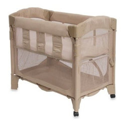 Arm's Reach - Arm's Reach Mini Co-Sleeper in Toffee - This bedside bassinet securely attaches to the parental bed. Easy access to infant at night makes it great for breastfeeding, bonding and just comforting.