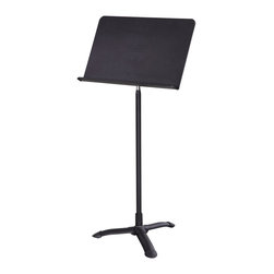 National Public Seating - National Public Seating Music Stand in Black - Our lightweight and durable Melody music stand provides a great variety of necessary features for your music necessities. from top to bottom our stand has been designed to provide a stable and multi-angle adjustable platform.