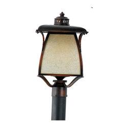 QUOIZEL - Quoizel Lighting Cozy Cottage 3 Light Outdoor Post Lantern in Burnished Copper C - Quoizel Lighting Cozy Cottage 3 Light Outdoor Post Lantern in Burnished Copper CZ9011BD