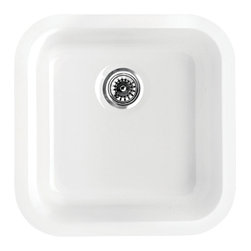 Whitehaus Collection - Whitehaus WHE1818SQ Square Single Bowl Fireclay Sink - Elementhaus Series Square Fireclay Sink in White by Whitehaus Collection. This fireclay Sink is made of 100% organic material. The timeless design can be installed as an under-mount or a drop-in application. This sink will be the center piece of your kitchen for years to come.