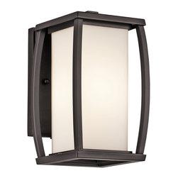 Kichler 1-Light Outdoor Fixture - Architectural Bronze Exterior - One Light Outdoor Fixture
