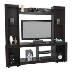 """Inval America - Entertainment Center holds up to 46"""" TV - This elegant entertainment center is the perfect focal point for your living room and provides ample storage."""