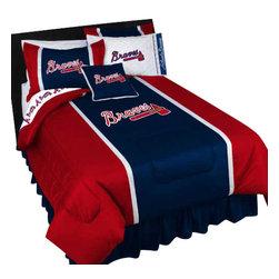 Store51 LLC - MLB Atlanta Braves Bedding Set Baseball Bed, Full - Features: