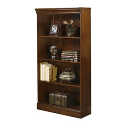 Riverside Furniture - Riverside Furniture Cantata Small Bookcase - Riverside Furniture - Bookcases - 4918 - The Cantata Small Bookcase features a total of 4 shelves 2 adjustable and 2 fixed to serve as storage for all of your reading materials. Constructed of very durable poplar hardwood solids and finished with cherry veneers this bookcase will surely a part of your home office for generations. Tip restraining hardware make sure that your office will be a safe place for small children to wander and play in. The Cantata Home Office Collection features is an ode to the furniture of the Italian Renaissance. This collection blends antique style and modern innovation to create a unique piece of art which is unnaturally casual. The pieces in this ensemble are made of premium quality poplar the same wood on which the Mona Lisa and other famous early renaissance Italian paintings were crafted and is accentuated with cherry and birch veneers to create this truly inspired collection which will surely be the highlight of your home office.