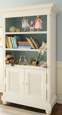 Art for Kids Furniture Evan Bookcase - This classic bookshelf hutch is a wonderful way to store toys and treasures through the years. I love the ability to showcase beauties up top, and hide away other items behind the cabinets.