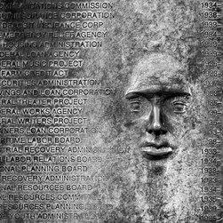 "New Deal Relief, Roosevelt Memorial, Washington DC 12"" X 16"" Print - New Deal Relief, Roosevelt Memorial, Washington DC"
