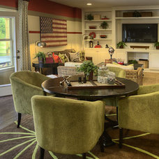 Eclectic Dining Room by Ashton Woods