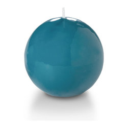 """Neo-Image Candlelight Ltd - Set of 6 - Yummi Gloss Sphere Ball Candles - 16 Colors, Turquoise, 2.8 - Our unscented 2.8"""" High Gloss Sphere Candles are ideal when creating a beautiful candlelight arrangement for the home or wedding decor.  Available in 7 trendy High Gloss candle colors hand over dipped with white core to match and compliment your home decor or wedding centerpiece decoration."""