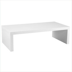 Eurostyle - Eurostyle Abril Lightweight White Rectangular Wood Coffee Table - Euro style -Coffee Tables -09704WHT -Add a sleek presence to any living space with the Abril Coffee Table the perfect contemporary coffee table for the modern minimalist with its sharp and understated design. The Abril Coffee Table is constructed of light weight wooden honeycomb. It is suitable for commercial use. Complete the look with the matching Abril side tables and Abril dining table.