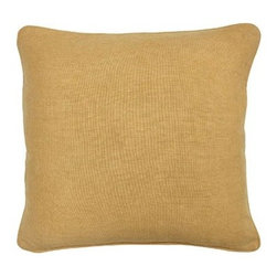 Silver Nest - Sunflower Gold Down Pillow- 22x22 - 100% Linen. Set of two pillow covers with hidden zippers. Feather inserts included. Inserts are 95/5. Priced individually, must be sold as set of 2.