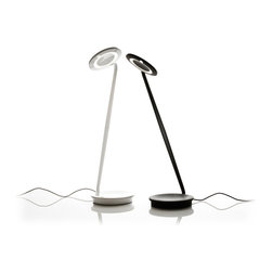Pixo - LED Desk/Table Lamp + USB Charger | Pablo - Pablo Pixo is a compact and energy-efficient LED task lamp that is perfect for desk, end table or nightstand. Designed for movement, Pixo's rotating arm and head allow you to direct its warm and bright lightsource where you need it most. Features convenient USB charging port in base.
