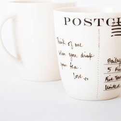 Postcup by Bailey Doesn't Bark - I like a good ritual, and sitting down to write a letter with a cup of tea by my side is one of my favorites. This Postcup seems like just the thing to accompany a letter writer.