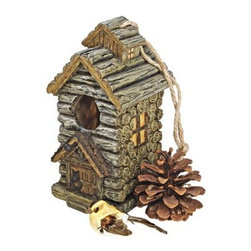 Design Toscano Backwoods Bird House Collection - Cabin - About Design Toscano:Design Toscano is the country's premier source for statues and other historical and antique replicas, which are available through the company's catalog and website. Design Toscano's founders, Michael and Marilyn Stopka, created Design Toscano in 1990. While on a trip to Paris, the Stopkas first saw the marvelous carvings of gargoyles and water spouts at the Notre Dame Cathedral. Inspired by the beauty and mystery of these pieces, they decided to introduce the world of medieval gargoyles to America in 1993. On a later trip to Albi, France, the Stopkas had the pleasure of being exposed to the world of Jacquard tapestries that they added quickly to the growing catalog. Since then, the company's product line has grown to include Egyptian, Medieval and other period pieces that are now among the current favorites of Design Toscano customers, along with an extensive collection of garden fountains, statuary, authentic canvas replicas of oil painting masterpieces, and other antique art reproductions. At Design Toscano, attention to detail is important. Travel directly to the source for all historical replicas ensures brilliant design.