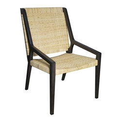 NOIR - NOIR Furniture - Zior Arm Chair with Rattan - GCHA222P - Zior Collection Arm Chair