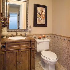Traditional Powder Room by Airoom Architects-Builders-Remodelers