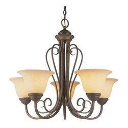 Trans Globe Lighting - Trans Globe Lighting 6525 ABZ Chandelier In Antique Bronze - Part Number: 6525 ABZ