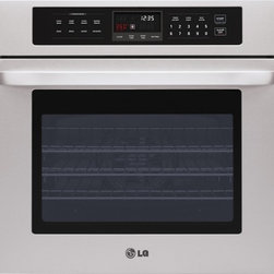 "LG - LWS3010ST 30"" Single Built-In Electric Wall Oven with 4.7 cu. ft  Convection Bak - Get it right again and again with a Built-In Wall Oven thats sure to bring out your inner chef Enjoy the handiness of LGs SmoothTouch glass controls to operate your oven with the touch of a finger Plus reach the ideal cooking temperature 30 faster wi..."