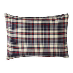 """Lauren Ralph Lauren - Lauren Ralph Lauren Full/Queen Wyatt Comforter Set - All-cotton """"Wyatt"""" bed linens sport classic plaid and stripe patterns. Red and navy plaid, yarn-dyed comforters have a navy and cream windowpane reverse. Twin comforter set includes 66"""" x 86"""" comforter and one matching standard sham. Full/queen comfor..."""