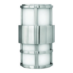Hinkley - Hinkley Saturn Two Light Stainless Steel Outdoor Wall Light - 1908SS - This Two Light Outdoor Wall Light is part of the Saturn Collection and has a Stainless Steel Finish. It is ADA Compliant, Outdoor Capable, and Wet Rated.