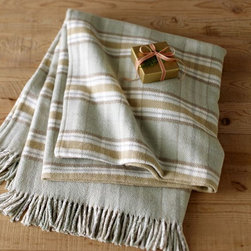 Plaid Fringed Oversize Throw - I love the colors and pattern on this throw. It reminds me of a Dash & Albert rug.