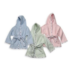 Tl Care - TL Care Organic Terry Robe - This cozy organic terry robe is ideal for your baby's comfort and warmth. This adorable terry robe with dotted trim comes with a matching waist tie and two pockets.