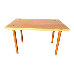 Used Poul Jenson Style Dining Table - A fab Danish Poul Jenson style dining table. This style table is very hot in the world of home decor! Similar styles have been featured in Houzz and elsewhere. A beautiful marriage between vintage and modern, this piece closes the gap and ties it all together.