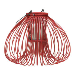 Kouboo - Discus Rattan Lantern, Natural Color - The intricacy of the weave as well as the discus like shape make this piece stand out from all the lantern centerpieces. Lit this lantern will add atmosphere to interior as well as exterior spaces from your party table to your pool side.