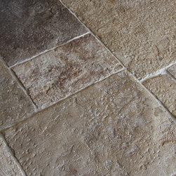 Antique Dalle de Bourgogne Stone Floor Tiles - We are obsessed with many hard surface items for the home, (maybe we are just obsessed), but flooring adds so much to the sense of of home. Can't you just imagine having these gorgeous antique floor tiles in your kitchen?