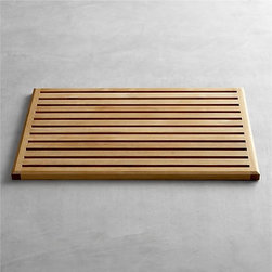 Teak Doormat - This teak mat is sophisticated and classic — I'd love to have my whole home described like that.